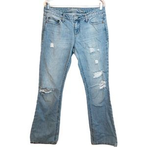 American Eagle Free Boot Distressed Denim Jeans